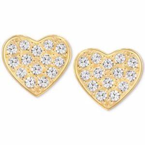 Swarovski Crystal Cupid Heart Stud Earrings